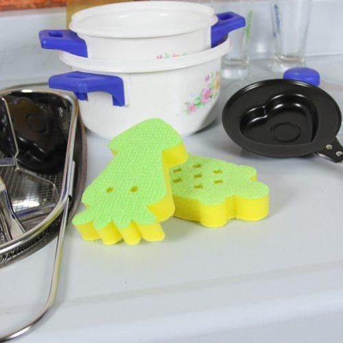 OKAY歐凱:【烏龜+章魚】動物造型纖維海綿(ニ款各3入組)