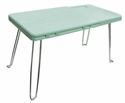 淡綠點子王-可折疊電腦桌/餐桌