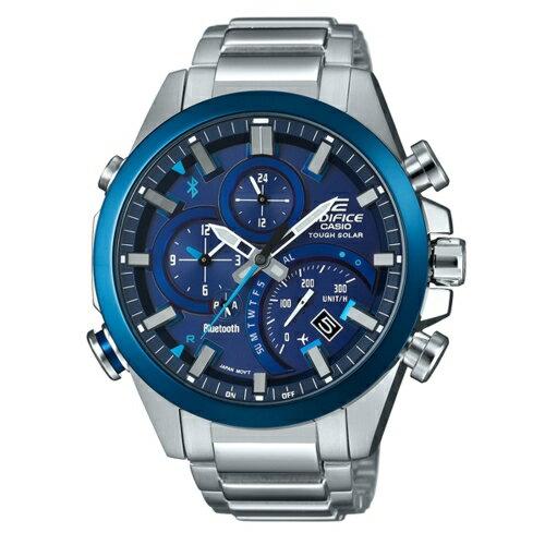 CASIO EDIFICE酷炫寶車三眼藍牙計時腕錶/藍/EQB-500DB-2A