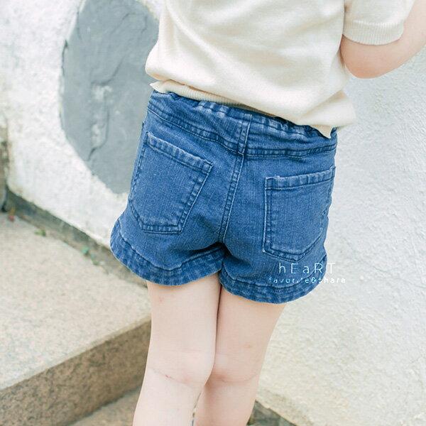 中性簡約刷白丹寧短褲童裝短褲牛仔褲