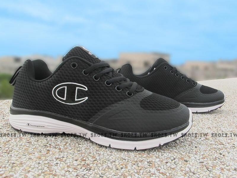 《限時特價990元》Shoestw【631210114】Champion 慢跑鞋 Trainer C 黑白 網布 男生