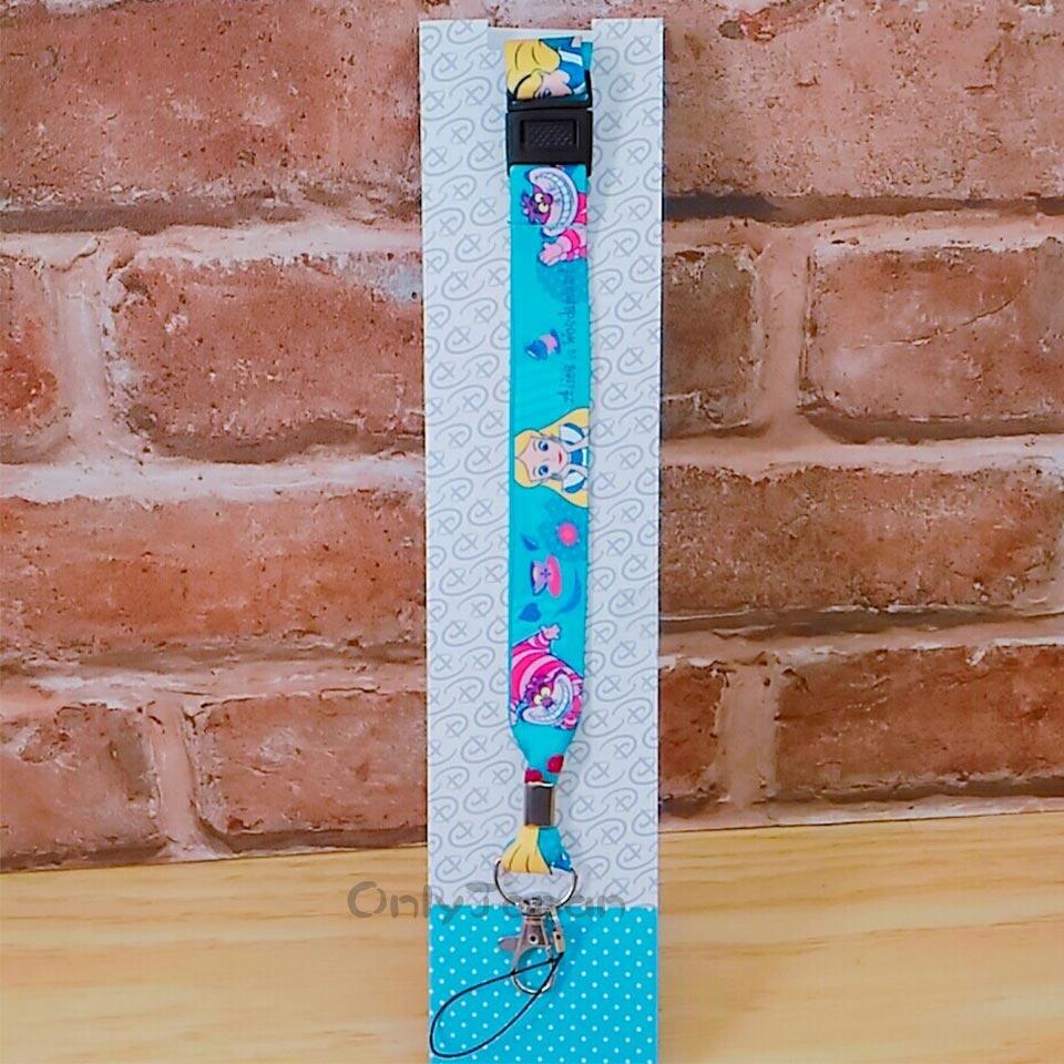 【真愛日本】18011400015 可調整扣吊勾頸掛繩-愛麗絲妙妙貓 迪士尼 愛麗絲 證件帶 手機頸繩 相機頸繩