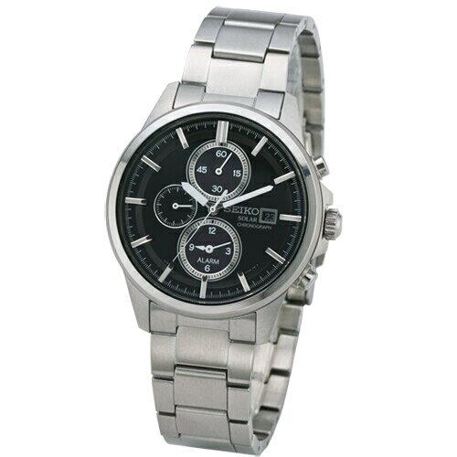 SEIKOSpiritSolor大錶面計時腕錶黑面SBPY007J(V172-0AA0D)