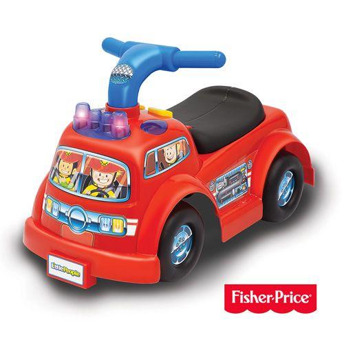 費雪牌 Fisher-Price little people 消防車騎乘玩具★愛兒麗婦幼用品★ - 限時優惠好康折扣