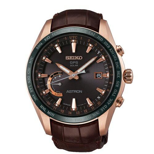 SEIKO ASTRON 衛星定位GPS太陽能皮帶腕錶/鈦金屬/8X22-0AG0P(SSE096J1)