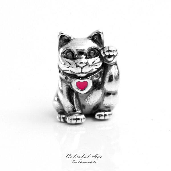 PANDORA潘朵拉925純銀墜飾-招財貓【NTP2】柒彩年代