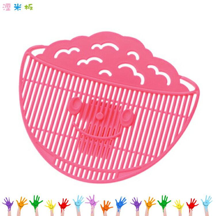 Akebono 製 瀝米板 桃色 洗米器 廚房洗米 瀝水器 洗綠豆 紅豆 洗蔬菜   05