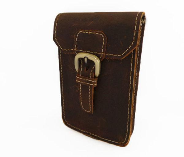 真皮手機腰包~休閒復古瘋馬皮 皮帶扣 手機袋 sony 手機包 掛包 真皮包 零錢包 收納