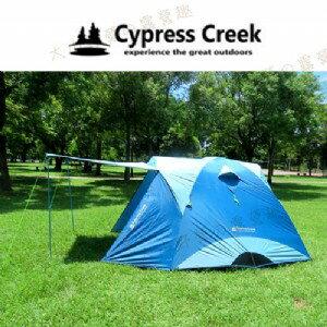 【露營趣】中和安坑 Cypress Creek 賽普勒斯 CC-T270F 馬卡龍家庭帳系列 (藍色) 六人帳篷 前庭帳 露營帳篷