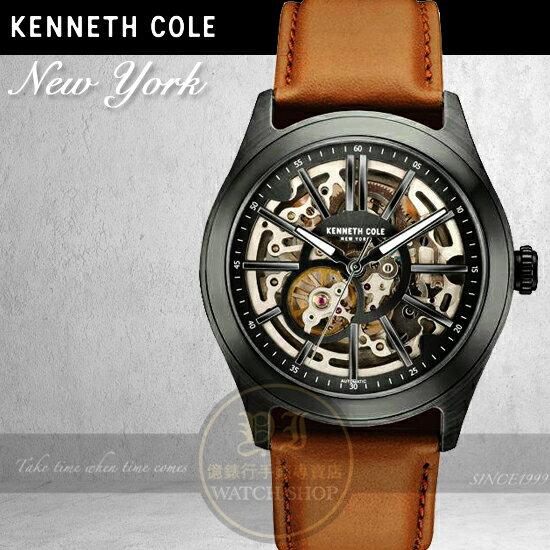 Kenneth Cole國際品牌都會休閒鏤空機械腕錶KC10030817 貨  師