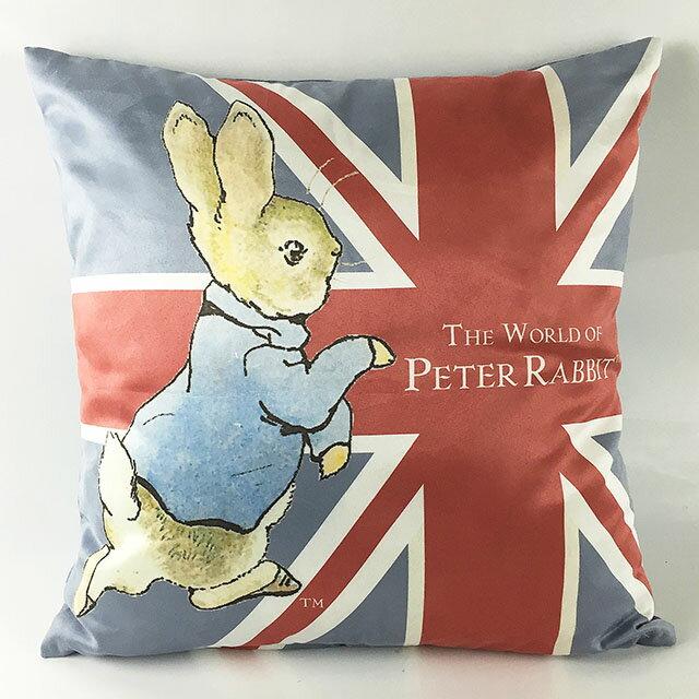 《Annie's Friends》 Peter Rabbit 比得兔針織抱枕【跑兔國旗】
