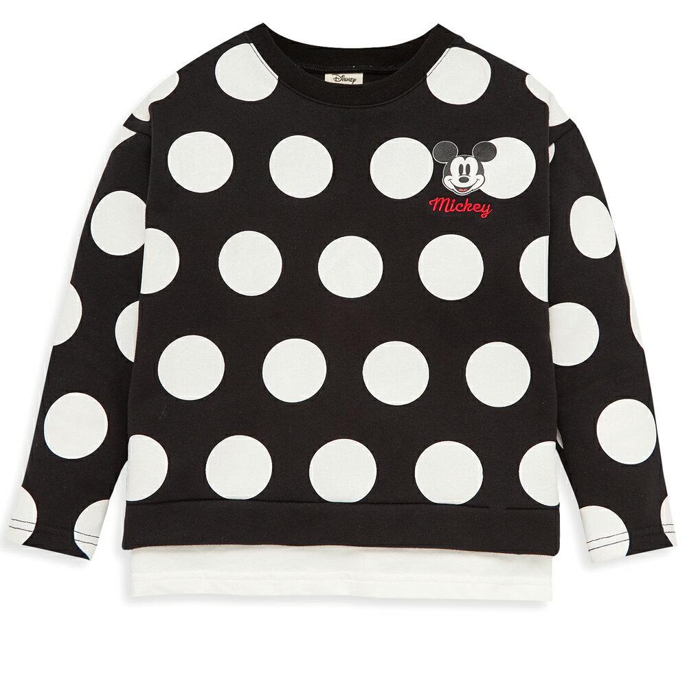Disney 米奇系列大圓點米奇上衣-黑色 - 限時優惠好康折扣