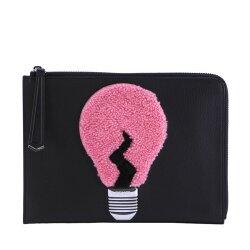 【寶思精品正貨保證】Fendi 芬迪 Light Bulb Clutch 羊絨燈泡圖騰立體裝飾手拿包