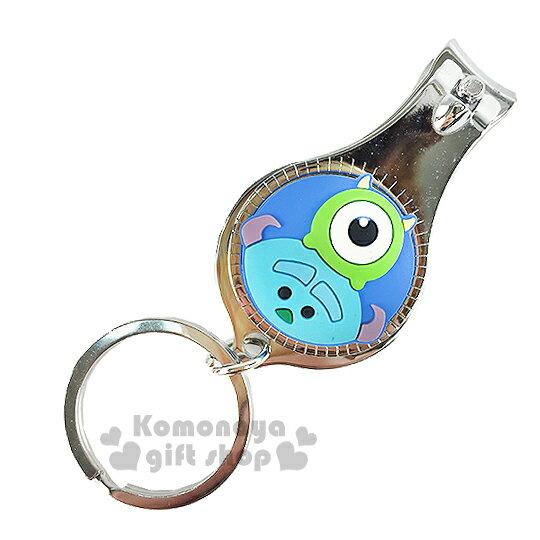 〔小禮堂〕迪士尼 Tsum Tsum 眼仔毛怪 指甲剪《小.藍.大臉.附鑰匙圈》方便隨身攜帶