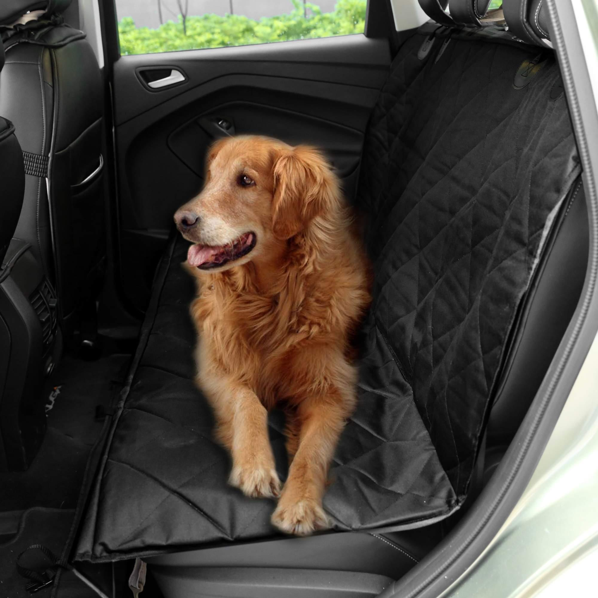 Waterproof Non Slip Pet Dog Car Rear Back Seat Cover Protector Black 0