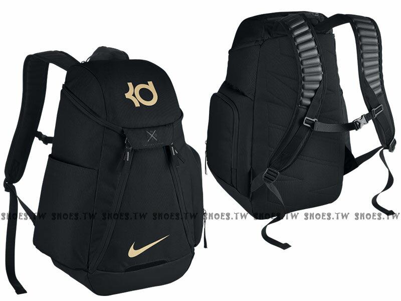 Shoestw【BA5394011】NIKE KD MAX AIR ELITE 黑金色 多袋 大容量 籃球後背包