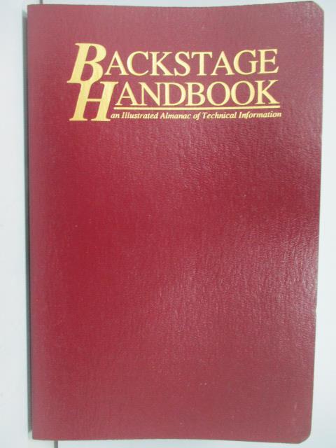 ~書寶 書T6/藝術_JPT~Backstage Handbook