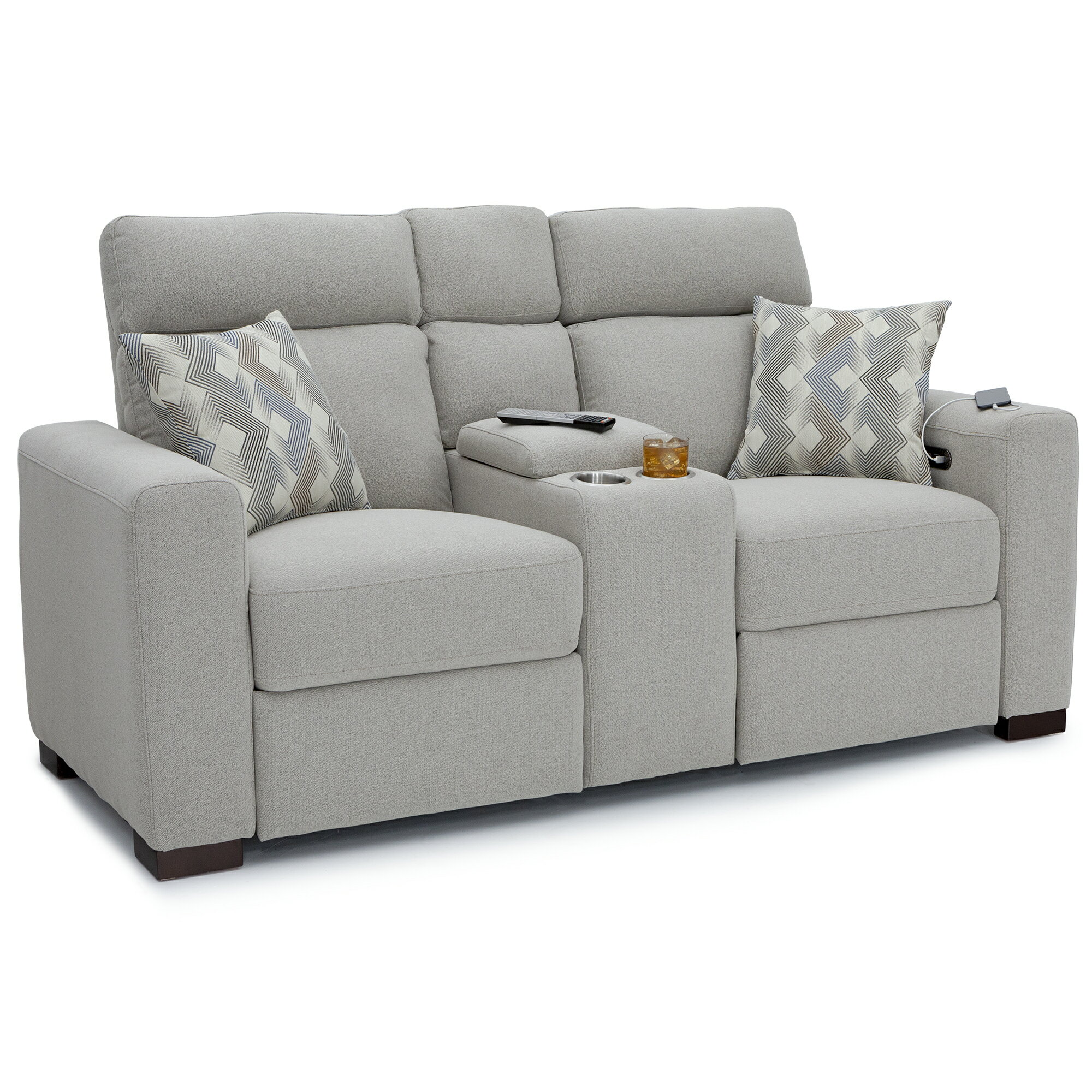 Tremendous Seatcraft 4801 Capital Home Theater Seating Loveseat Performance Fabric Recline Adjustable Powered Headrests Center Storage Console Usb Charging Cup Machost Co Dining Chair Design Ideas Machostcouk