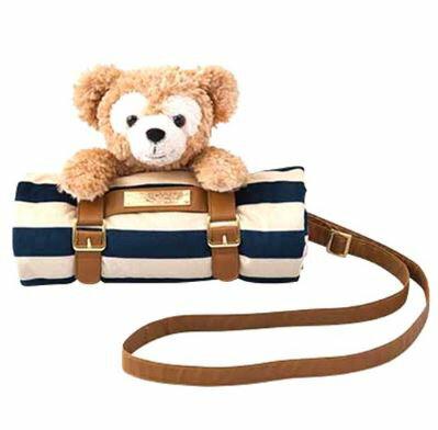 X射線【C050001】日本東京迪士尼海洋代購-Duffy達菲娃娃毛毯,可當作抱枕/毛毯/披肩/交換禮物/禦寒/圍巾/披巾/游泳泡溫泉適穿