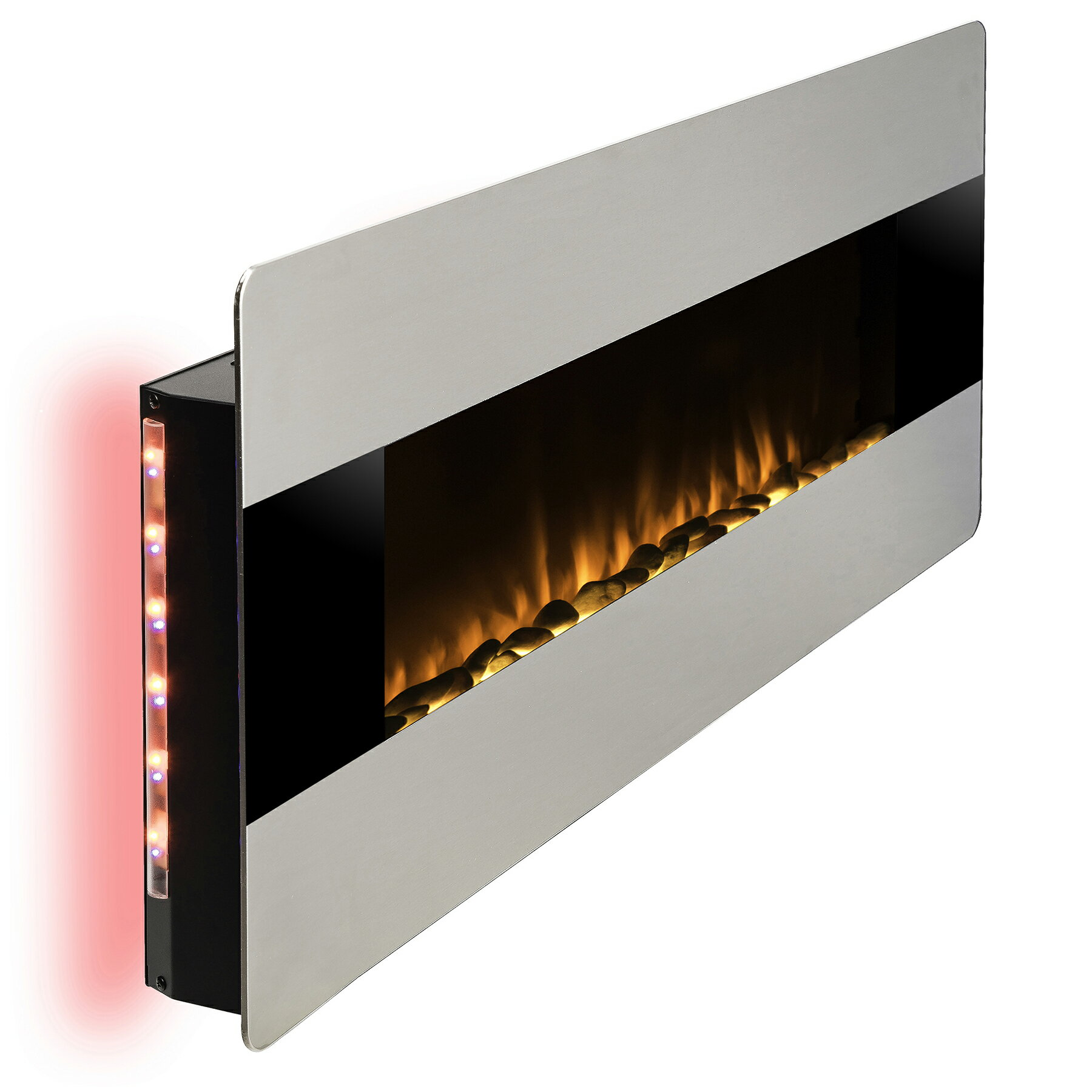 """AKDY 48"""" Freestanding Wall Mount Convertible Electric Fireplace Heater Stove 3"""
