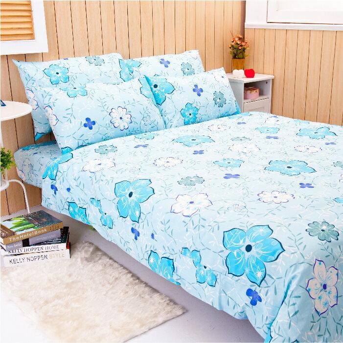 【名流寢飾家居館】寧靜古典(藍).100%純棉.雙人兩用鋪棉被套.全程臺灣製造