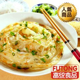 【富統食品】純手工蔥抓餅10片《口味:原味 / 翡翠》