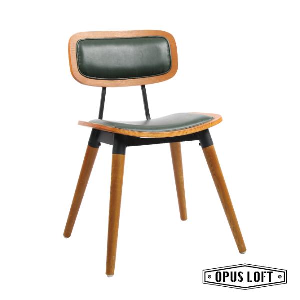 ARLENE阿琳復古北歐實木餐椅皮革坐墊書房椅休閒椅餐椅
