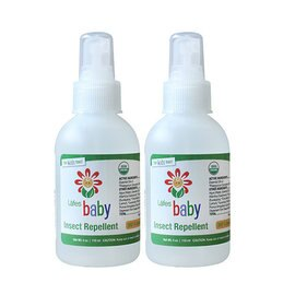【淘氣寶寶】 美國原裝進口 Lafes Organic有機嬰兒防蚊液/118ml 兩入《美國USDA有機認證》防小黑蚊超強效3倍防蚊液