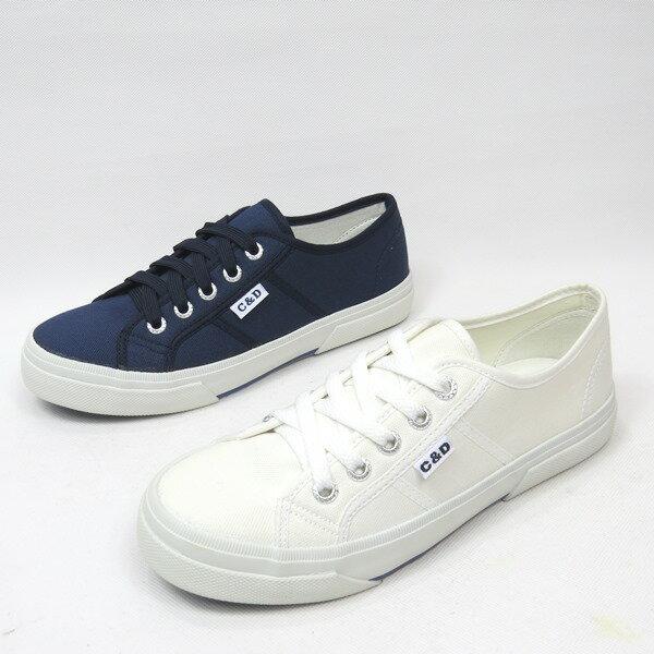 彩虹屋美鞋:*免運*鞋帶舒適透氣多功能休閒運動帆布鞋*11-051(白藍)*[彩虹屋]*現+預