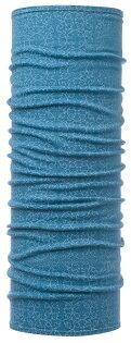 【【蘋果戶外】】BF115401-739西班牙BUFF湖水藍紋美麗諾羊毛保暖頭巾100%merino