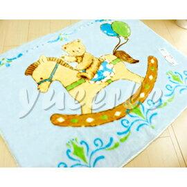 【悅兒樂婦幼用品舘】日本西川 三熊發熱中童毯100x140cm (藍色)