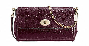 COACH RUBY CROSSBODY DEBOSSED PATENT LEATHER