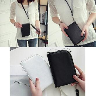 韓版 手拿掛頸兩用包手機包掛脖手機袋 皮夾卡片夾 錢包零錢包 手拿包 【RB412】