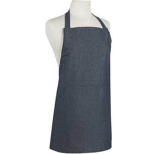 《NOW》平口單袋兒童圍裙(單寧藍)
