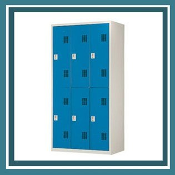 『商款熱銷款』【辦公家具】PS-3606-B藍色6人用衣櫃資料文件檔案櫃櫃子檔案收納