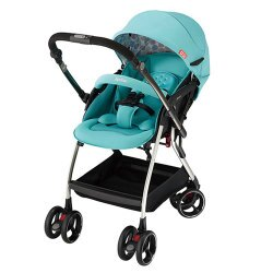 Aprica 愛普力卡 四輪自動定位導向型嬰幼兒手推車 Optia新視野-哈潑綠【悅兒園婦幼生活館】