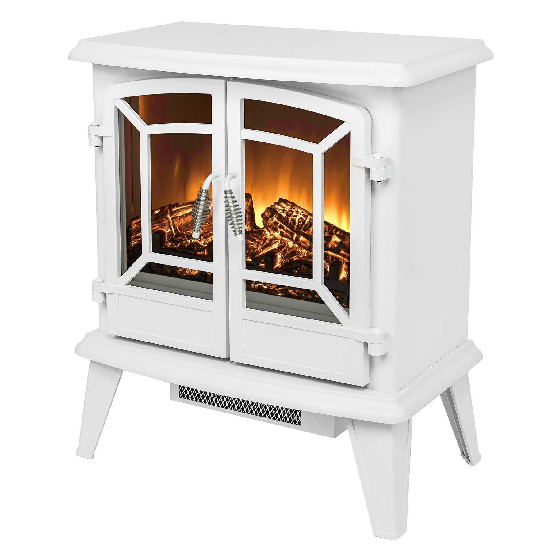 "AKDY 20"" Freestanding Portable 3D Flames 2 Setting Level Fireplace Heater Firebox 2"