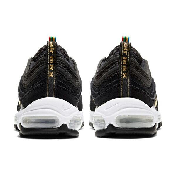 【NIKE】AIR MAX 97 QS 休閒鞋 運動鞋 子彈 氣墊 反光 麂皮 奧運配色 金標 黑 男鞋  -CI3708001 4