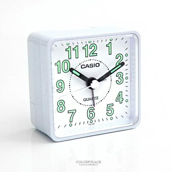 鬧鐘 CASIO白色迷你時尚座鐘【NVC14】柒彩年代