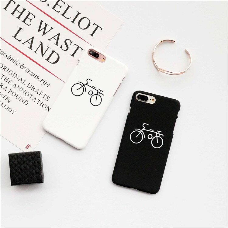 黑白腳踏車殼 #C114 iPhone手機殼
