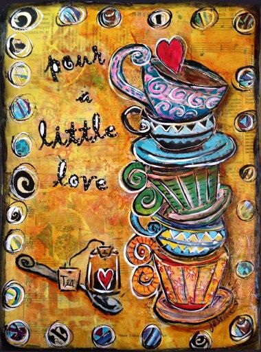 Stacked Tea Cups Fine Art Poster Print by Jessia Sporn (24 x 32) ecb14a8a0796684dc3b2a862486f3140