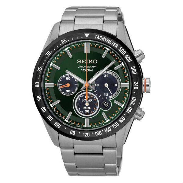 SeikocriteriaV175-0DK0M(SSC469P1)極致競速太陽能計時腕錶綠面42mm
