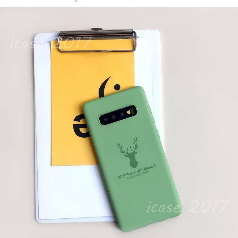 三星 Note 10+ 保護套 Note9 軟殼 Note8 可愛動物殼 S10+ S10 S9+ S8+糖果色液態麋鹿 全包邊防摔 手機殼