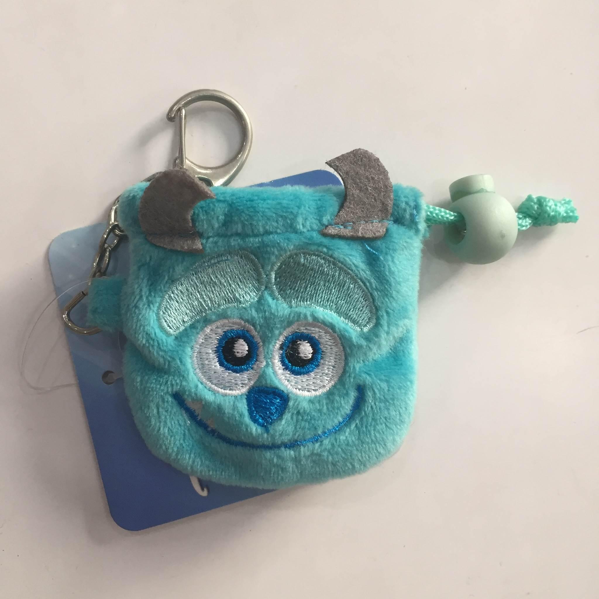 【毛怪】迪士尼 Disney 可愛 束口袋 零錢包 收納袋 鑰匙圈 聖誕禮物