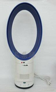 易集GO商城(林口店)-現貨優惠價-14吋超靜音無葉風扇空調扇無葉電風扇附遙控器-藍白色-24861014
