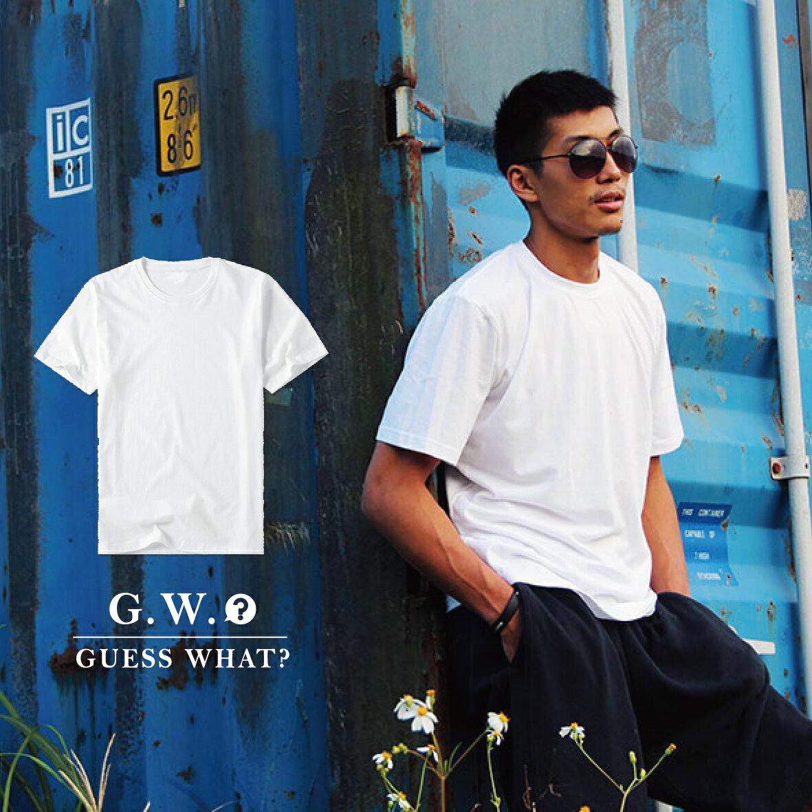 G.W.GILDAN美國100%純棉圓領【素色T恤_紅】短袖素T素面/男女情侶/寬鬆休閒/大小尺碼/客製化印製♛GuessWhat