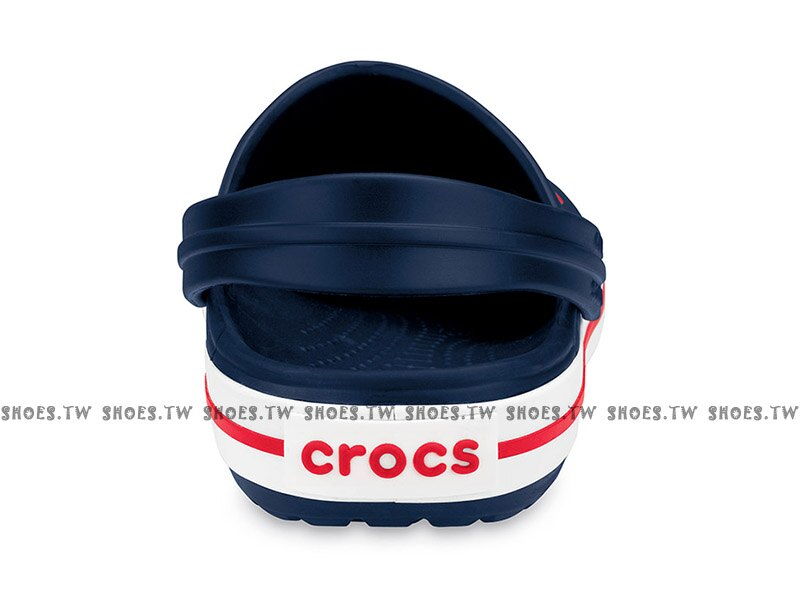 Shoestw【11016-410】CROCS 卡駱馳 鱷魚 輕便鞋 拖鞋 涼鞋 深藍白紅 中性款 2