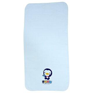 藍色企鵝 素色紗布澡巾2入水 30~60cm