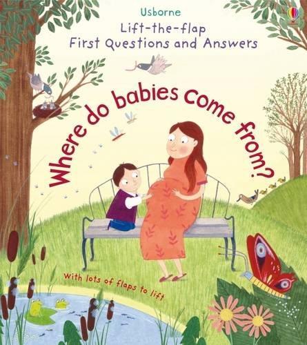 英國 Usborne Lift-the-Flap 翻翻書 Where do babies come from?寶寶從哪裡來*夏日微風*