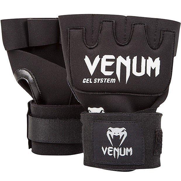 [古川小夫] Venum健身房訓練手綁帶~免手綁帶~Combat康貝拳擊免綁帶-VENUM黑色拳套專用免手綁~快速手綁帶